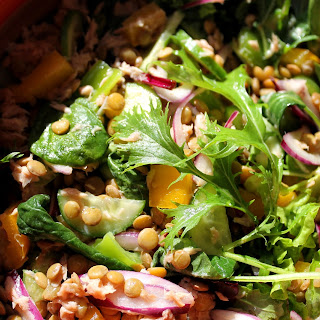 Warm Salad with Tuna and Green Lentils Recipe