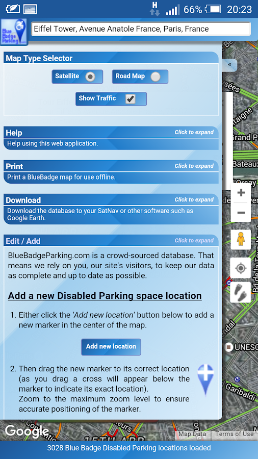 Blue Badge Parking- screenshot