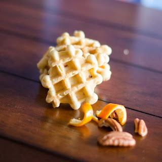 Orange Pecan Waffle Cookies