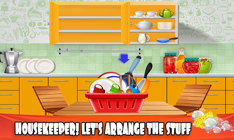 Haus Dish Waschen Küche Aufräumen Reinigung Sim android