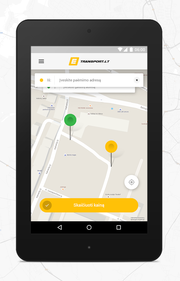Taxi in Lithuania - ETRANSPORT- screenshot