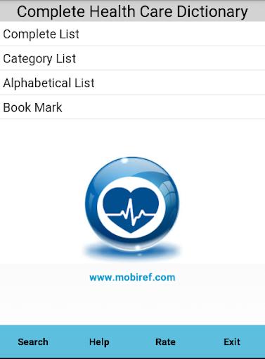 Health Care Dictionary Free
