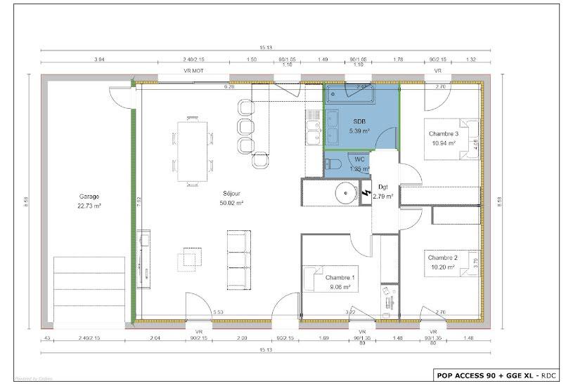 Vente Terrain + Maison - Terrain : 2337m² - Maison : 90m² à Gardonne (24680)