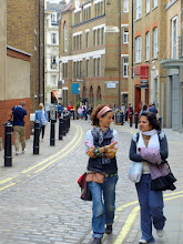 Photo: Tourists in back streets nr Covent Garden