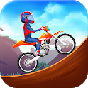 Hills Moto Racing Game - Super Boy Stunt Jump icon