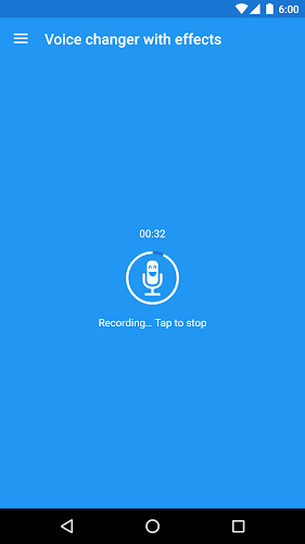 Voice changer with effects Android App Screenshot