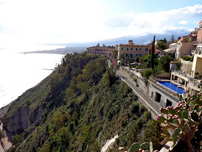 Photo: Looking south towards Giardini Naxos