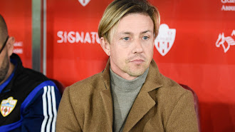 El técnico del Almería vivió su tercera victoria seguida.