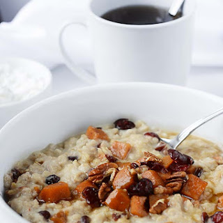 Sweet Potato Oatmeal with Pecans and Cranberries Recipe