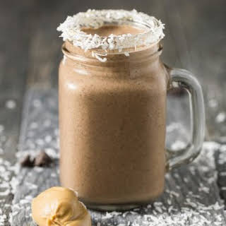Peanut Butter Cocoa Coconut Smoothie.