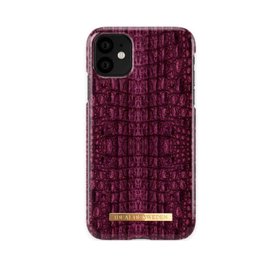 iDeal of Sweden iPhone 11 Pro Burgundy Croco