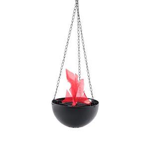 Lampa decorativa suspendata cu flacara falsa