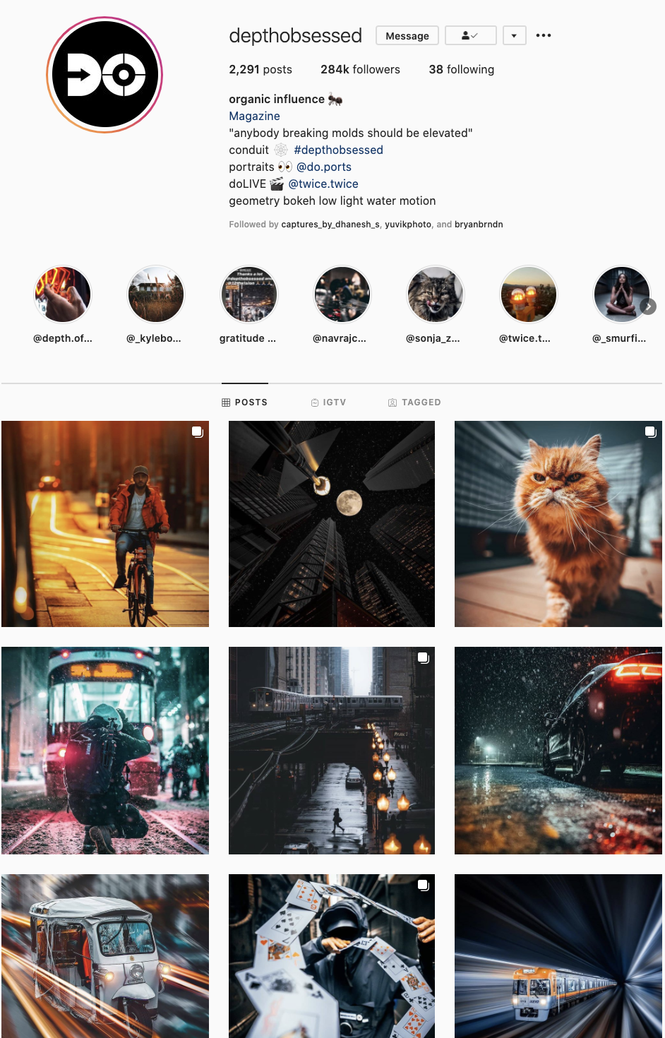 Depth Obsessed Instagram Page