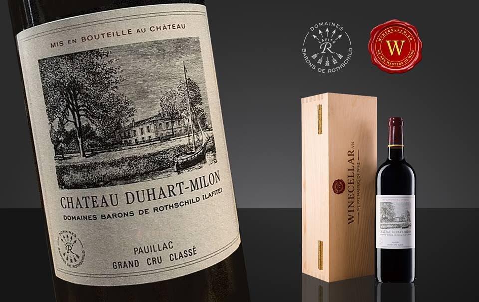 Rượu vang Chateau Duhart - Milon. Ảnh: GooglePhoto