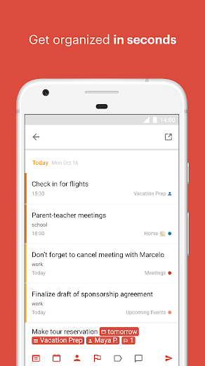 Screenshot 0 for Todoist's Android app'