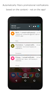 Notifix - Content Aware Notification Management! Screenshot