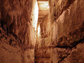 Photo: The tunnel emerges back on the Via Dolorosa.
