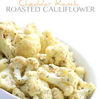Cheddar Ranch Roasted Cauliflower