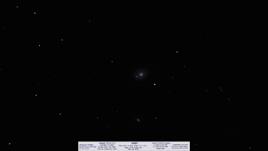 Photo: and the last DSO with the old computer, M85, unguided and a terrible mess of noise and no SNR... NEXT!