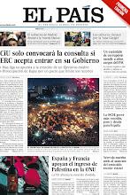 Photo: CiU solo convocará la consulta si ERC acepta entrar en su Gobierno, un escándalo de corrupción sacude a altos cargos del PSC, la OCDE prevé más recesión, paro y deuda para España, España y Francia apoyan el ingreso de Palestina en la ONU y Wert da marcha atrás al aumento del contenido escolar estatal, en nuestra portada del 28 de noviembre de 2012. srv00.epimg.net/pdf/elpais/1aPagina/2012/11/ep-20121128.pdf