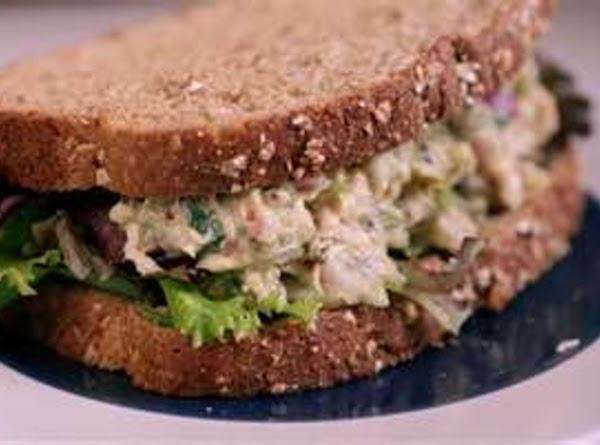 TUNA SALAD SANDWICH: Grandma drained a can of tuna and added a little chopped...