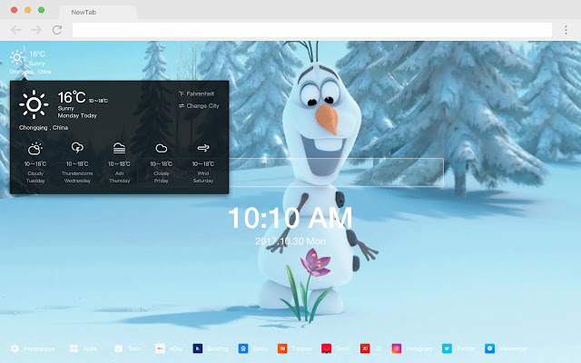 olaf HD New Tabs Popular Movies Themes