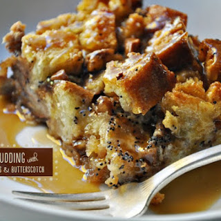 Bourbon Pecan Bread Pudding with Butterscotch