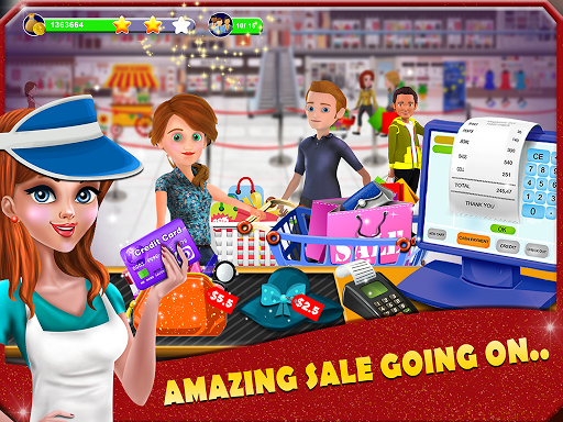 Shopping Mall Cashier Girl - Cash Register Games app (apk