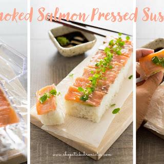 Pressed Sushi with Smoked Salmon.