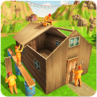 Jungle Hut Construction House- Building & Crafting icon