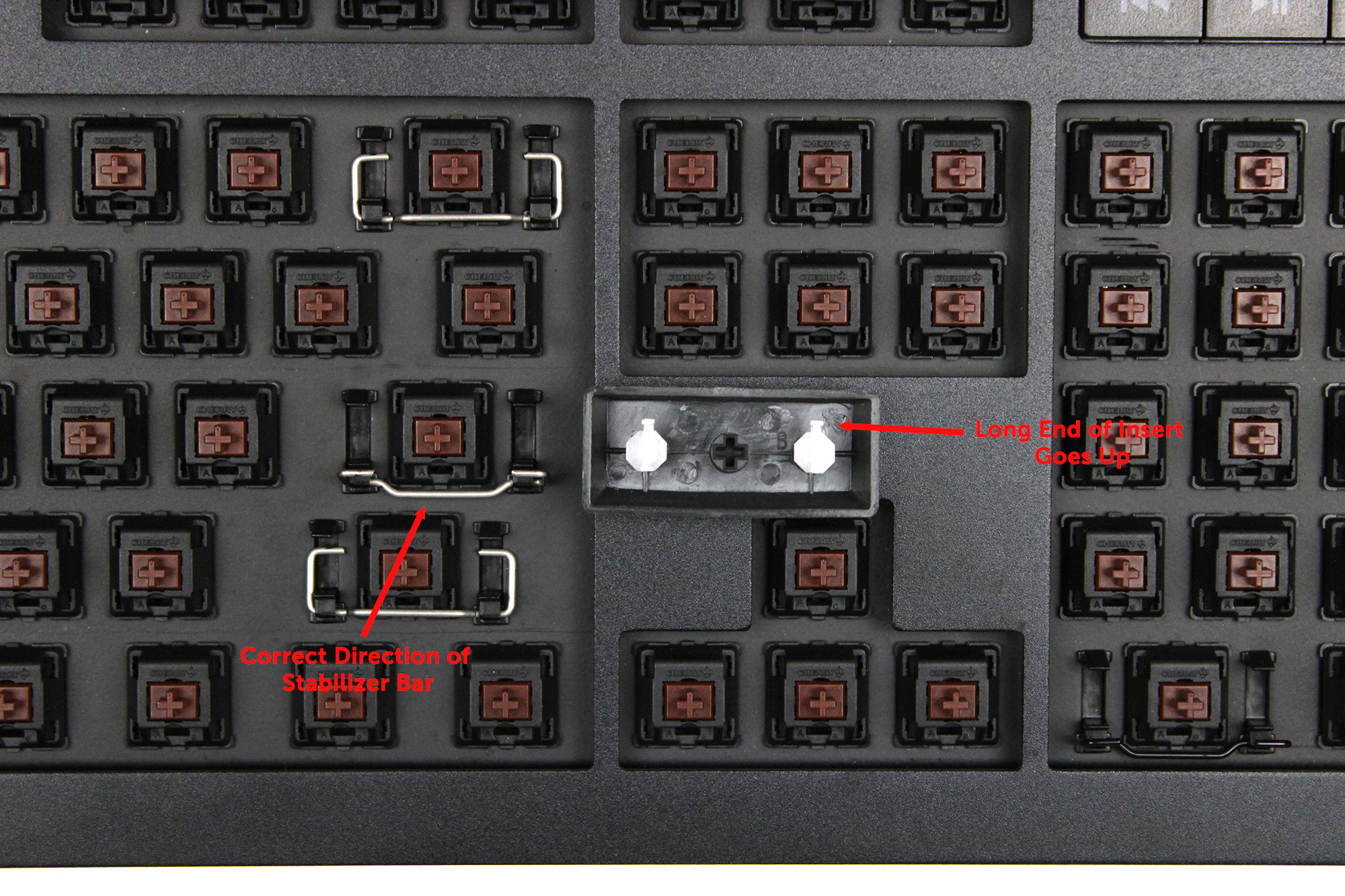 How to attach a stabilizer to a keyboard