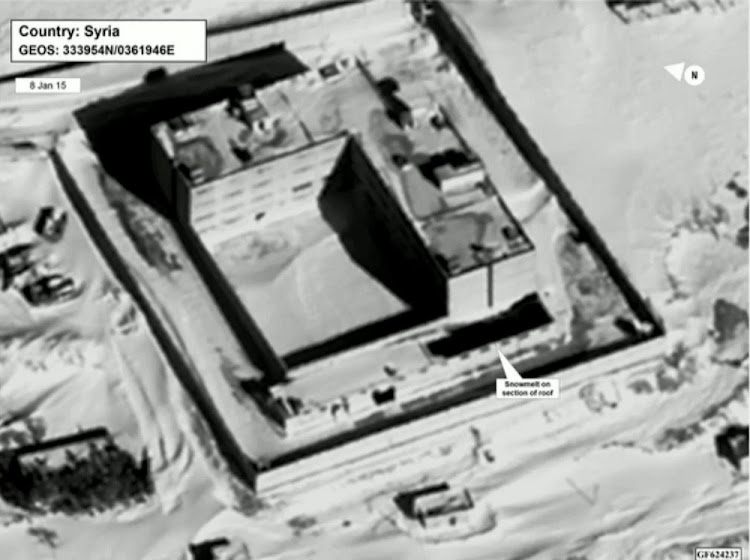 A satellite view of part of the Sednaya prison complex near Damascus, Syria, in a still image from a video briefing provided by the US State Department on Monday. Picture: REUTERSCLIENTS