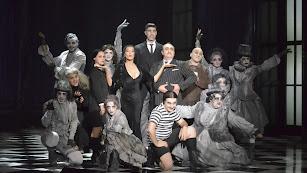 El elenco del musical durante el pase de prensa.