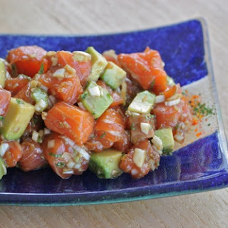 Salmon Avocado Poke with Lime and Mint