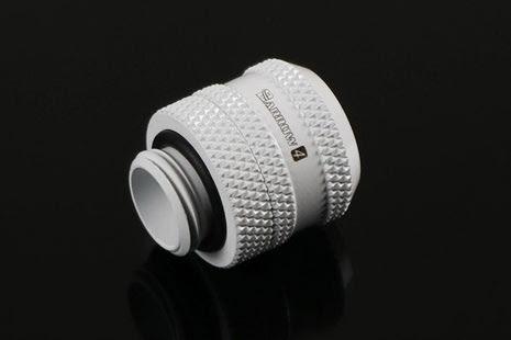 Barrow røradapter m/overfallsmutter, 1/4BSPxØ12mm, White, V4