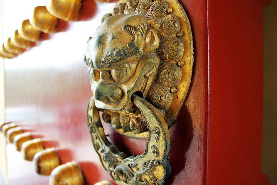 Dragon Door by Bryan Rasmussen - Buildings & Architecture Architectural Detail ( pwcopendoors, dragon, door knocker, china )