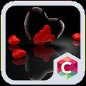 Romantic Hearts Theme: Red Color Black heart Love icon