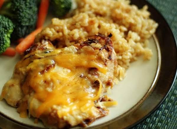 Cheesy Chicken Amp Rice Casserole 4 Just A Pinch Recipes