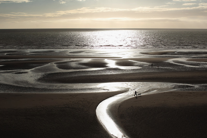 Photo: BLACKPOOL, ENGLAND - AUGUST 21:  A man walks his dog on Blackpool beach on August 21, 2012 in Blackpool, England.  (Photo by Dan Kitwood/Getty Images)