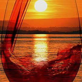 Water to Wine by Rob Bradshaw - Food & Drink Alcohol & Drinks ( columbia river, wine glass, food & drink, river, washington, water to wine, alcohol & drinks, wine )