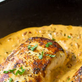 Creamy Roasted Red Pepper Chicken Skillet #Recipe