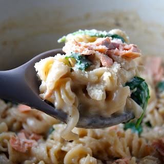 One-Pot Salmon Pasta with Cream Sauce.