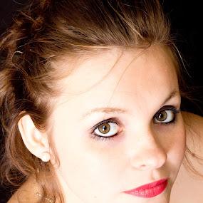 Brown Eyed Girl by Tiffany Hibbins - People Portraits of Women