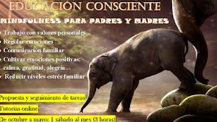 Cartel del Taller de Educación Consciente para padres y madres en Actívate Psicología.