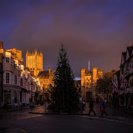 Market Place by Jack Hardin - Buildings & Architecture Public & Historical ( england, english, medieval, wells somerset, christmas, cathedral, architecture )