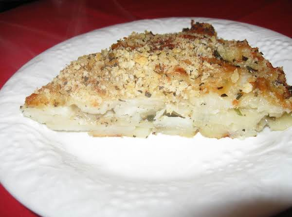 Crispy Parmesean And Potato Gratin