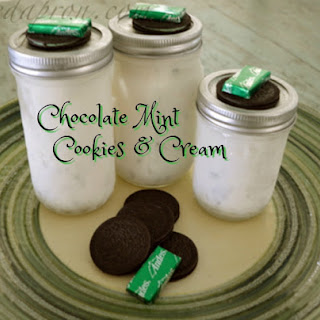 Chocolate Mint Cookies & Cream.