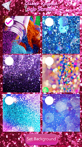 Glitter Keypad Lock Screen 5.0 screenshots 8