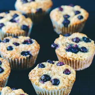 Crisp Vegan Blueberry Muffins.