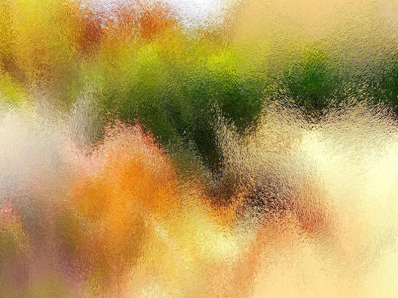 fiori sttraverso il vetro di mago